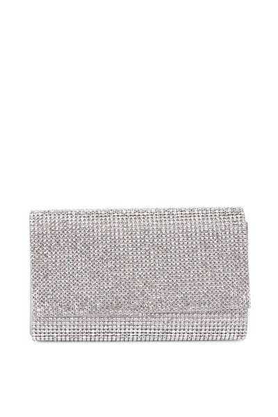 Judith Leiber Couture - Fizzy Silver Full Bead Clutch