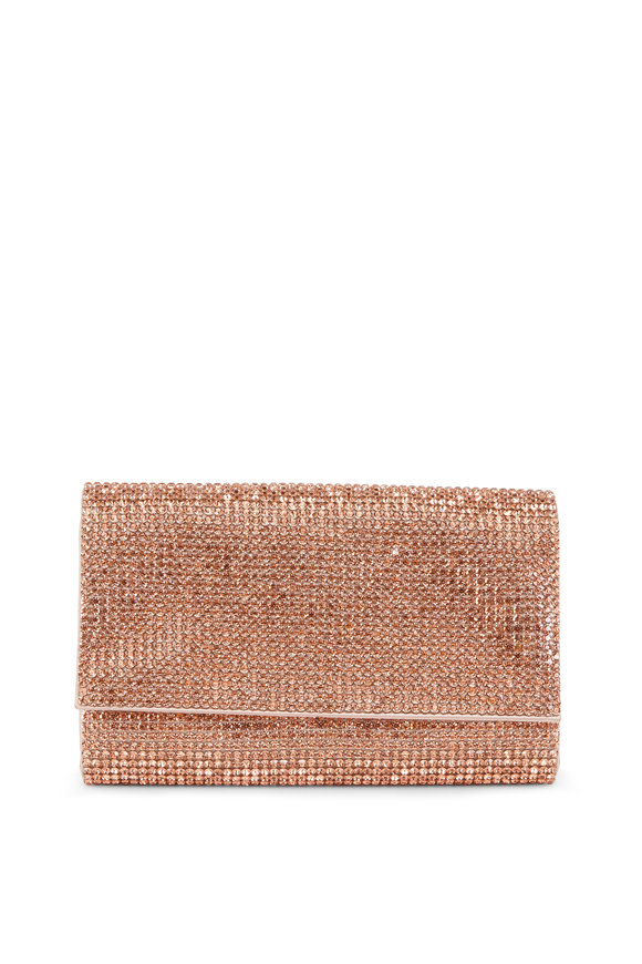 Judith Leiber Fizzy Rose Gold Full Bead Clutch