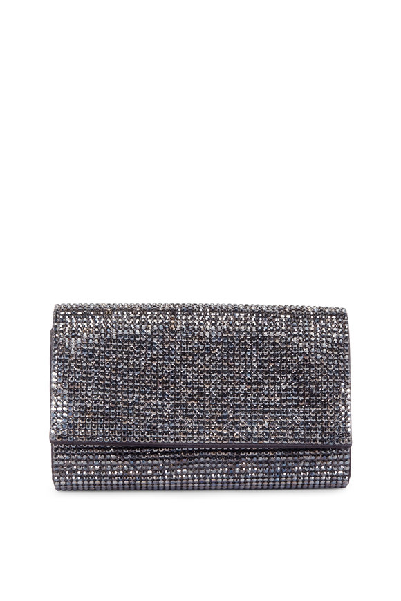 Judith Leiber Fizzy Dark Gray Full Bead Clutch