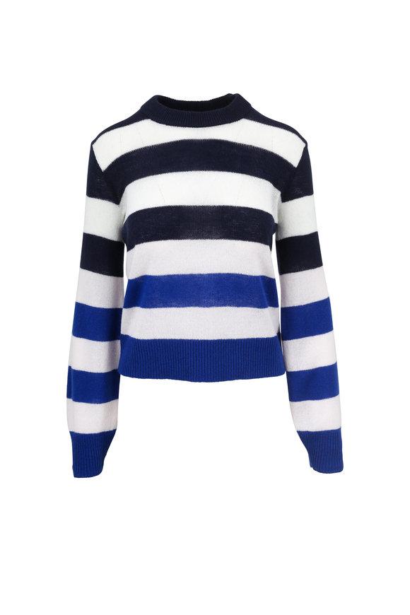 Rag & Bone Annika Navy & White Striped Cashmere Sweater