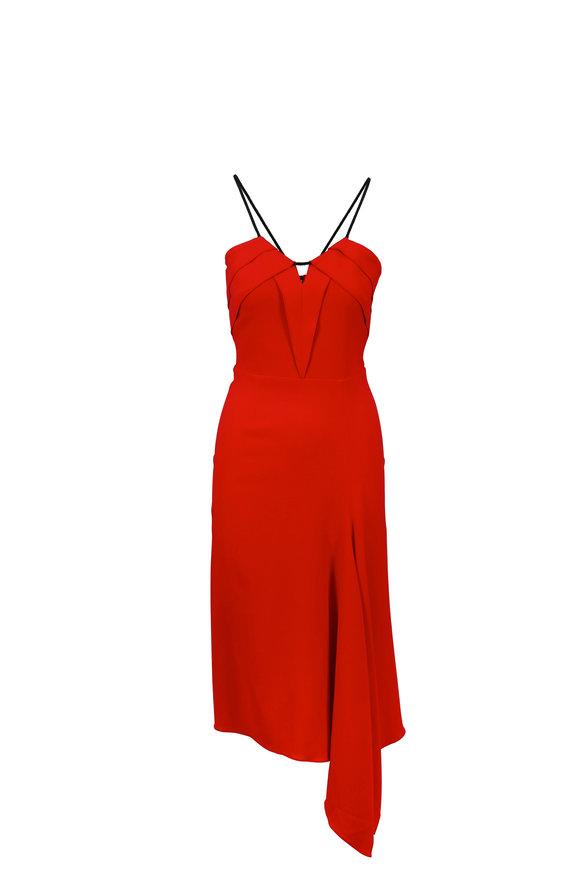 Roland Mouret Fazeley Red Strappy Dress