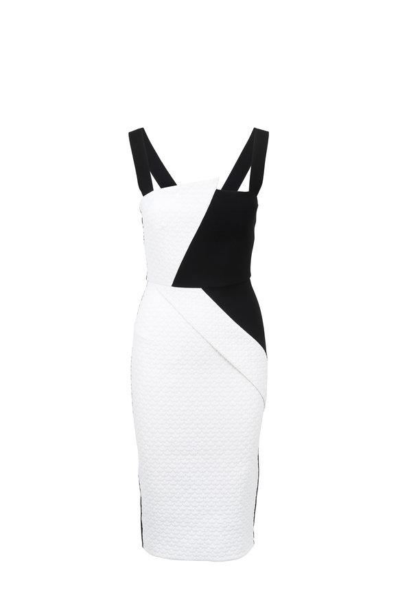 Roland Mouret Hutton Puckered Black & White Dress