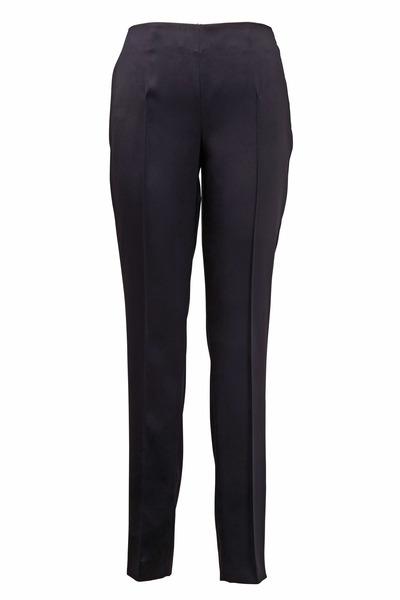 Akris - Melissa Black Silk Slim Pants