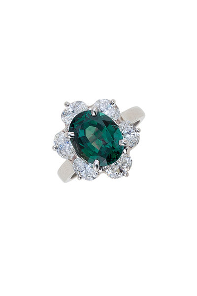 Oscar Heyman - Alexandrite Diamond Platinum Ring