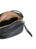 Alexander McQueen - Black Textured Embossed Leather Camera Crossbody