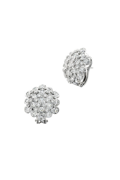 Aaron Henry - White Gold Diamond Dome Earrings