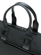 Troubadour - Black Nylon & Leather Weekender Bag
