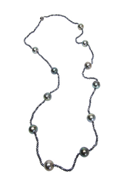 Frank Ancona - Tahitian Pearl & Spinel Beads Necklace