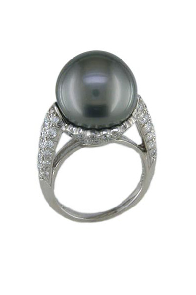 Oscar Heyman - Diamond Pearl Ring