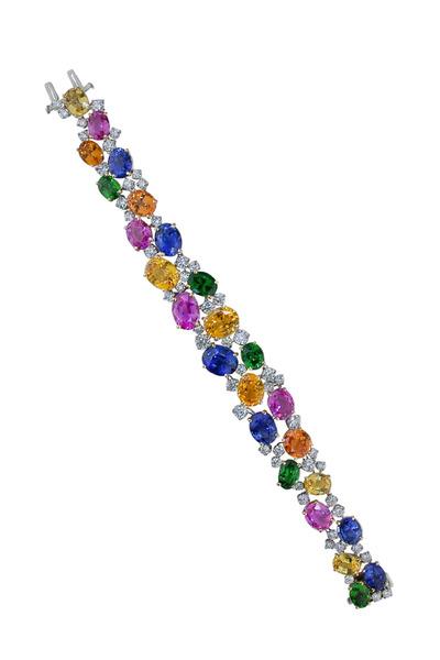 Oscar Heyman - Multi Gemstone Bracelet