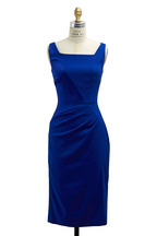 Talbot Runhof - Royal Blue Crepe Stretch Dress