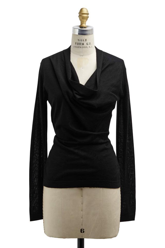 Black Cashmere & Silk Sweater