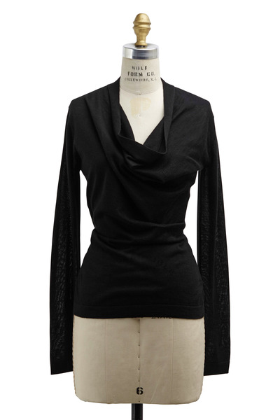 Derek Lam - Black Cashmere & Silk Sweater