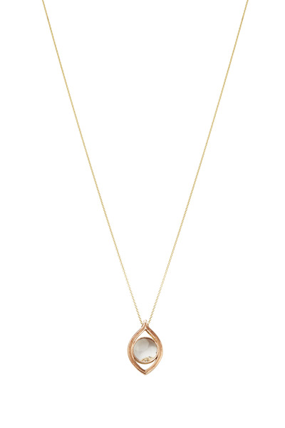 James Banks - Yellow Gold Monocle Pendant Necklace