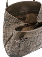 Bottega Veneta - Steel Intrecciato Stitch Detail Large Tote