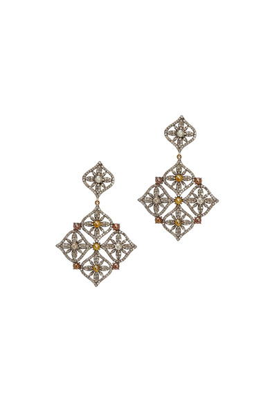 Loriann - Diamond Dangle Earrings