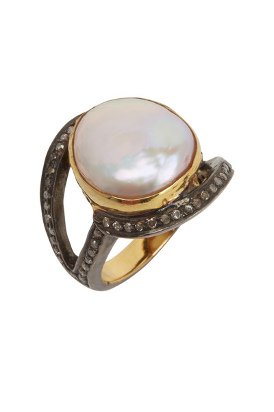 Loriann - Pearl Diamond Ring