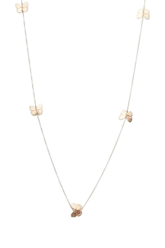 Butterfly Gold Diamond Baby Migration Necklace
