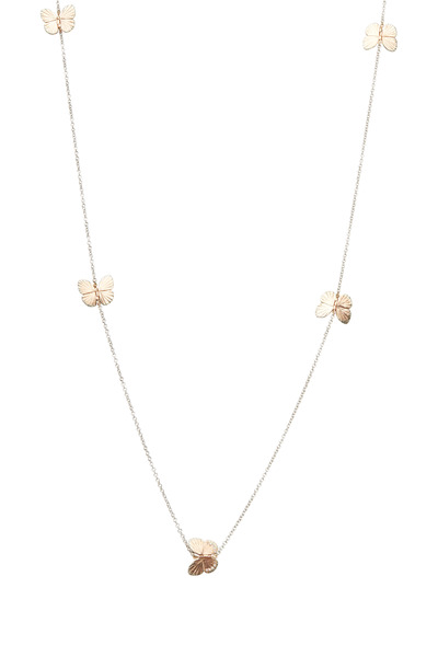 James Banks - Butterfly Gold Diamond Baby Migration Necklace