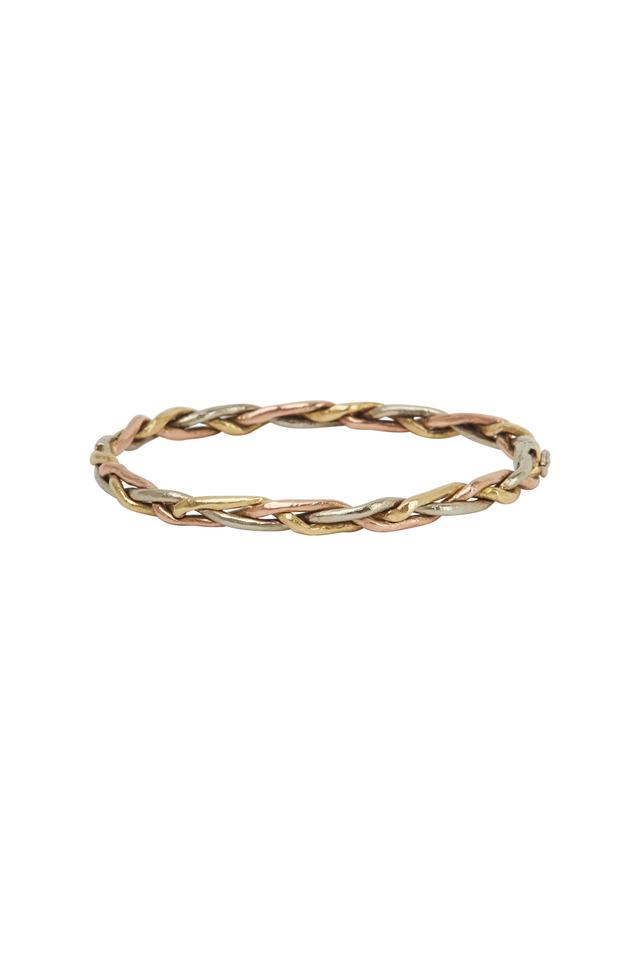 Gold & Silver Diamond Woven Bracelet