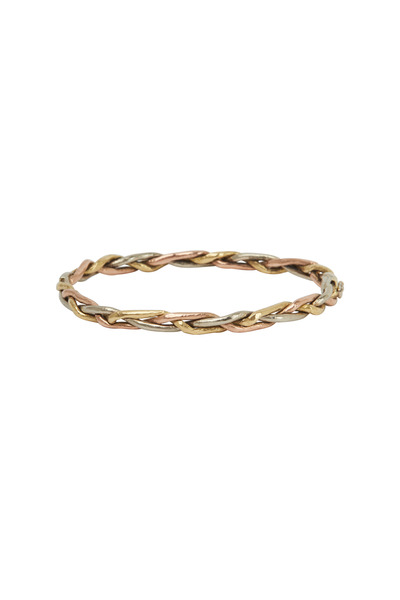 James Banks - Gold & Silver Diamond Woven Bracelet