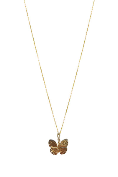 James Banks - Butterfly Gold Diamond Baby Necklace
