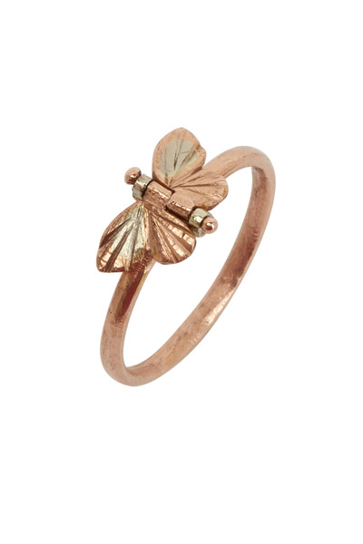 James Banks - Butterfly Gold & Silver Tiny Baby Ring