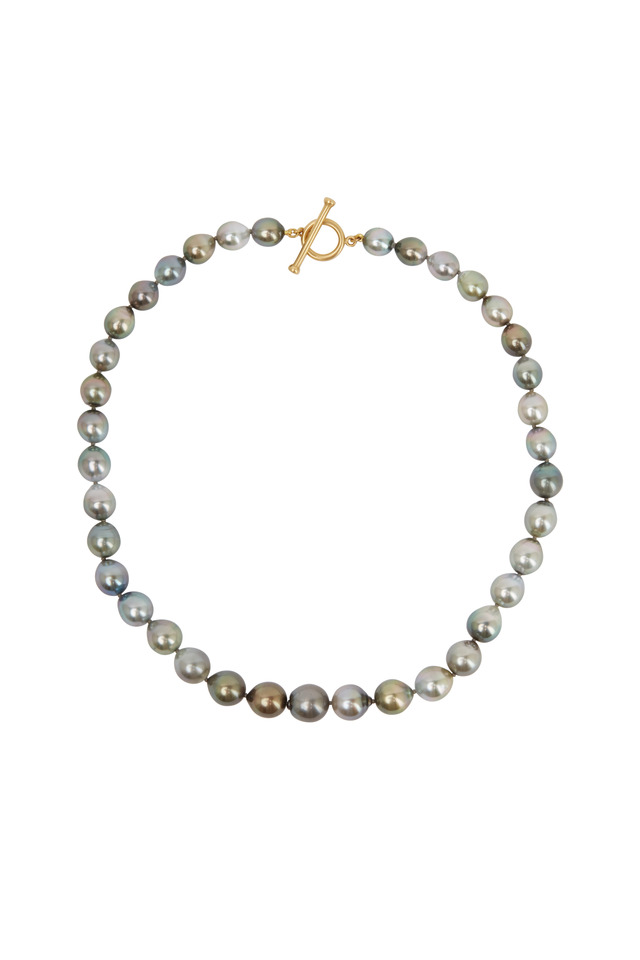 Yellow Gold Tahitian Pearl Necklace