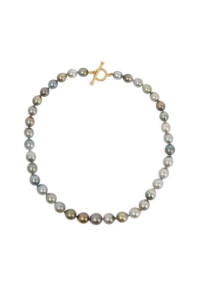 Caroline Ellen - Yellow Gold Tahitian Pearl Necklace