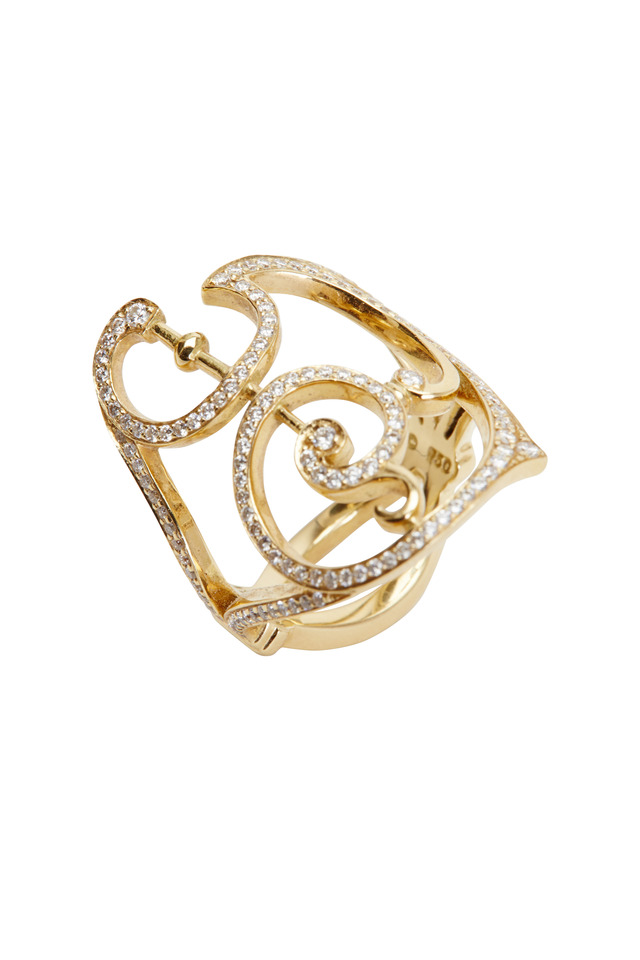 Garden Gate Yellow Gold Diamond Ring