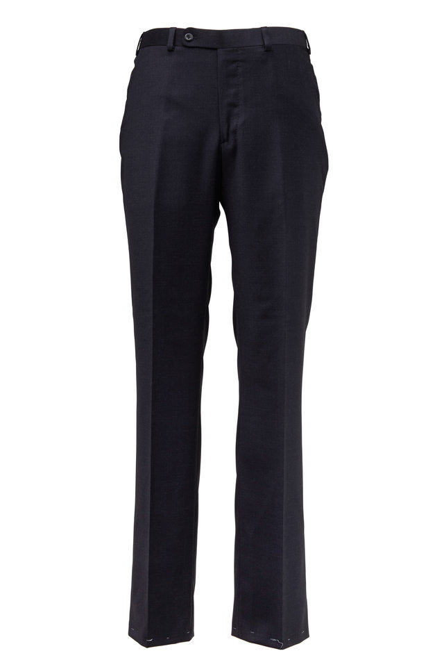 Monroe Charcoal Gray Wool Dress Pants
