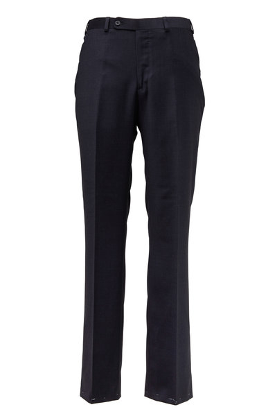 Oxxford Clothes - Monroe Charcoal Gray Wool Dress Pants