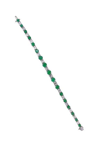 Oscar Heyman - Platinum Emerald & Diamond Bracelet