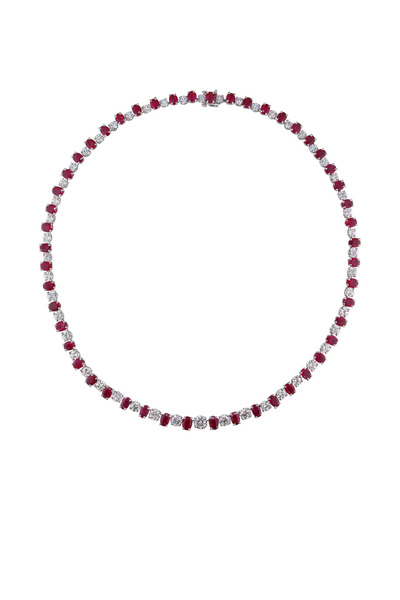 Oscar Heyman - Platinum Ruby Diamond Necklace