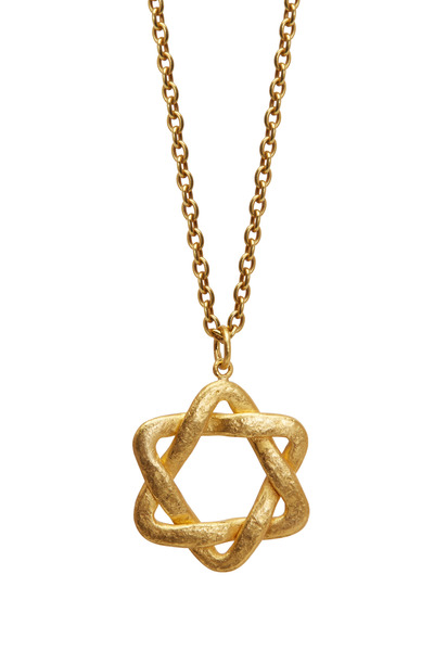 Yossi Harari - 24K Yellow Gold Star Of David Pendant Necklace