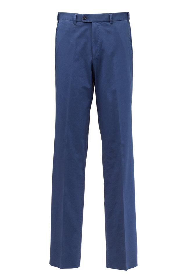 Dayne Blue Stretch Cotton Pants