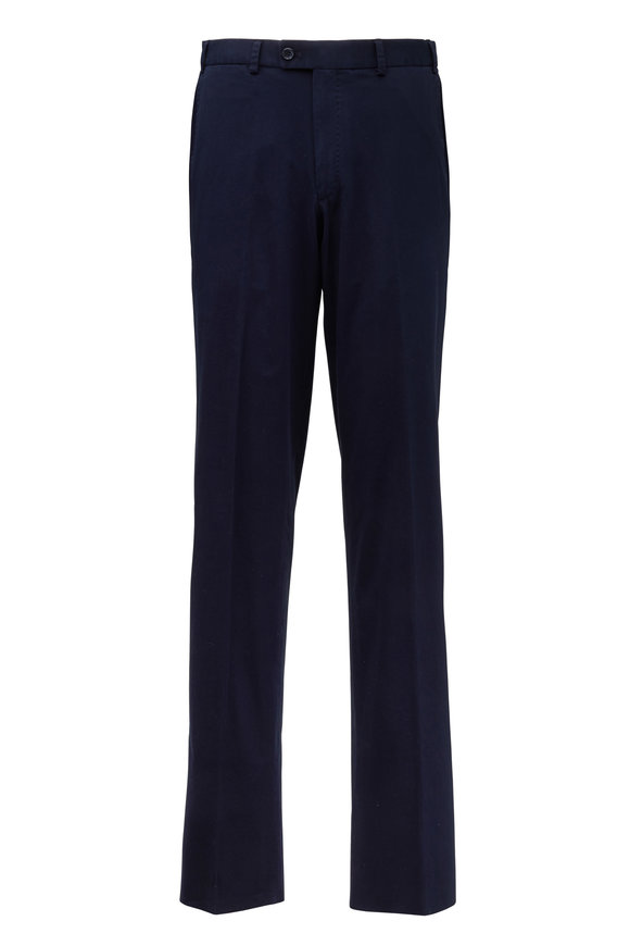 Hiltl Dayne Navy Blue Stretch Cotton Pant