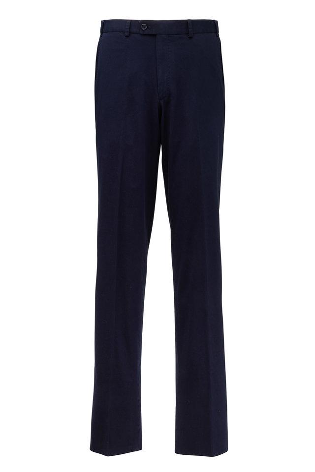 Dayne Navy Blue Stretch Cotton Pant