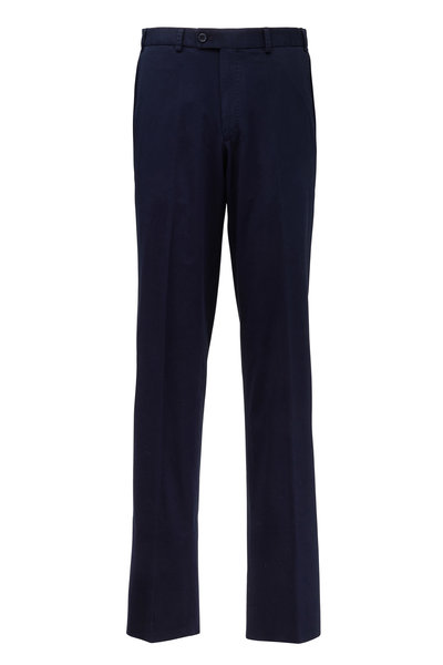 Hiltl - Dayne Navy Blue Stretch Cotton Pant