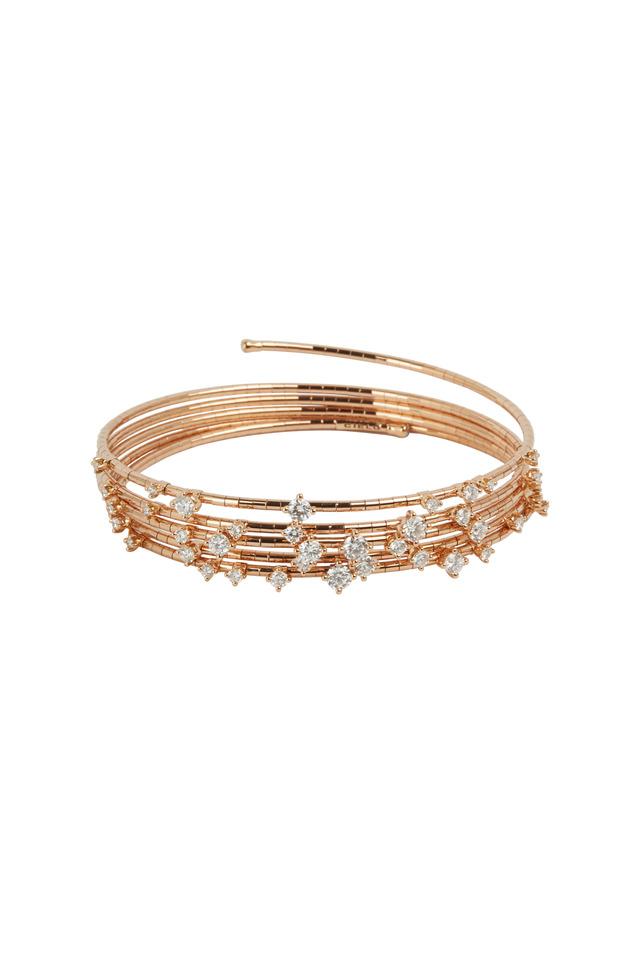 Rose Gold Coil Diamond Bracelet