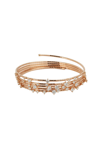 Mattia Cielo - Rose Gold Coil Diamond Bracelet