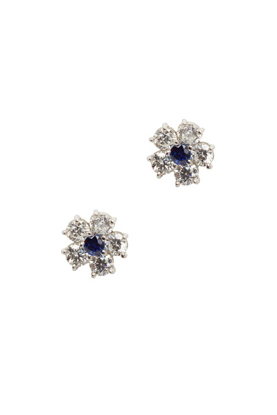 Oscar Heyman - Platinum Sapphire & Diamond Earrings