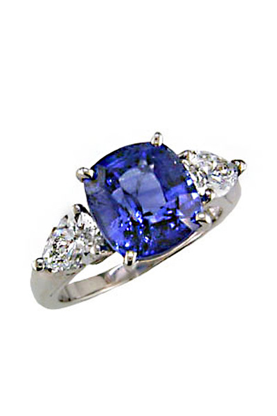 Oscar Heyman - Blue Sapphire & Diamond Platinum Ring