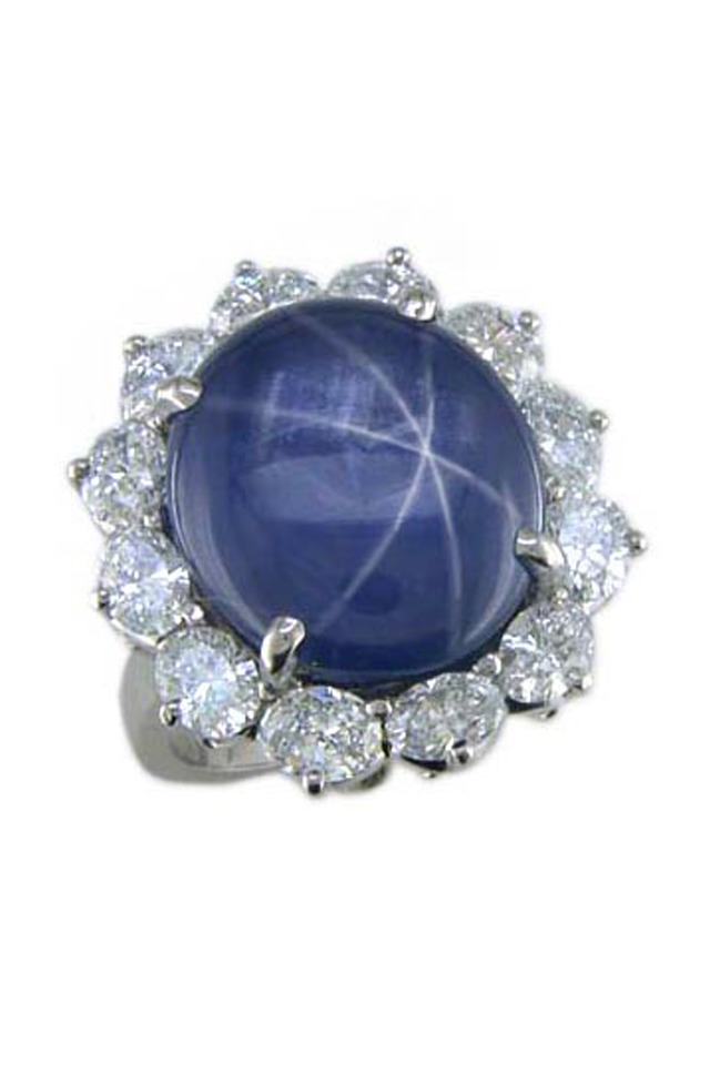 Platinum Star Sapphire Ring