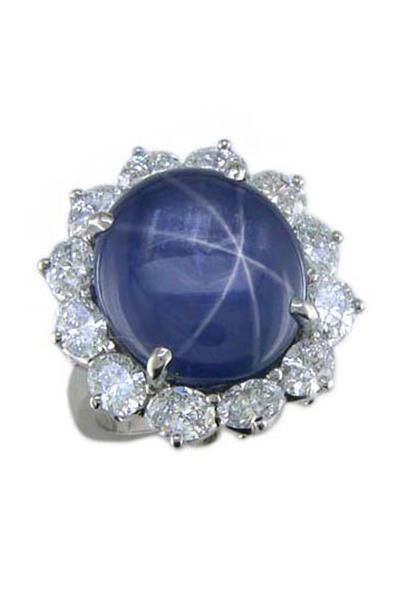 Oscar Heyman - Platinum Star Sapphire Ring