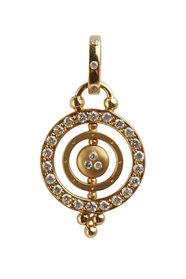 Tolomeo Yellow Gold Diamond Pendant