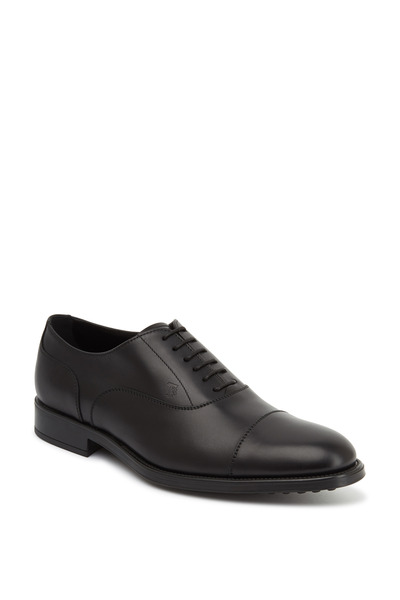 Tod's - Francesina Black Leather Oxfords