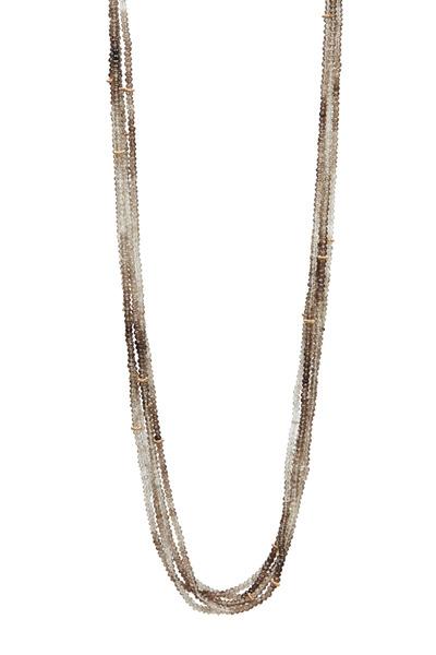 Dana Kellin - Gold Smoky Topaz Bead Necklace