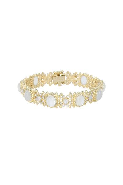 Paul Morelli - Yellow Gold Moonstone Macrame Bracelet