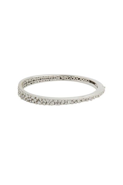 Paul Morelli - White Gold White Diamond Bangle Bracelet